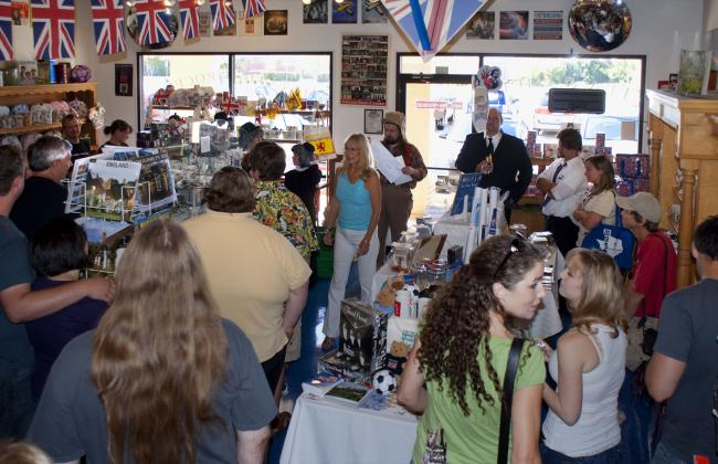 The Saturday crowd at the British Emporium